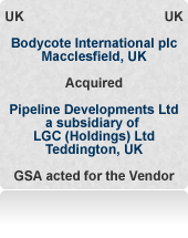 Pipeline Developments was a pipeline consultancy and testing company (now Exova Polymer) principally serving the utilities sector. Auction process.