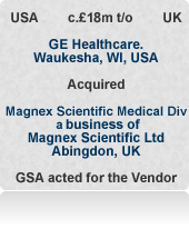 Acted for Magnex Scientific Ltd in the sale of all or part of the £18m turnover superconducting magnet business - medical half sold to GE. Put together unique private equity alternative.